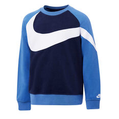 Nike Boys French Terry Knit Sweatshirt Navy / Blue 4, Navy / Blue, rebel_hi-res