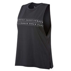 Under Armour Womens Graphic WM Muscle Tank Black XS, Black, rebel_hi-res
