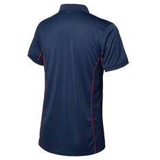 Melbourne Demons 2020 Mens Media Polo Navy S, Navy, rebel_hi-res