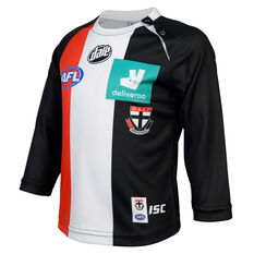 St Kilda Saints 2020 Infants Home Guernsey Black 1, Black, rebel_hi-res