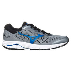 Mizuno Wave Rider 22 2E Mens Running Shoes Grey / Blue US 8, Grey / Blue, rebel_hi-res