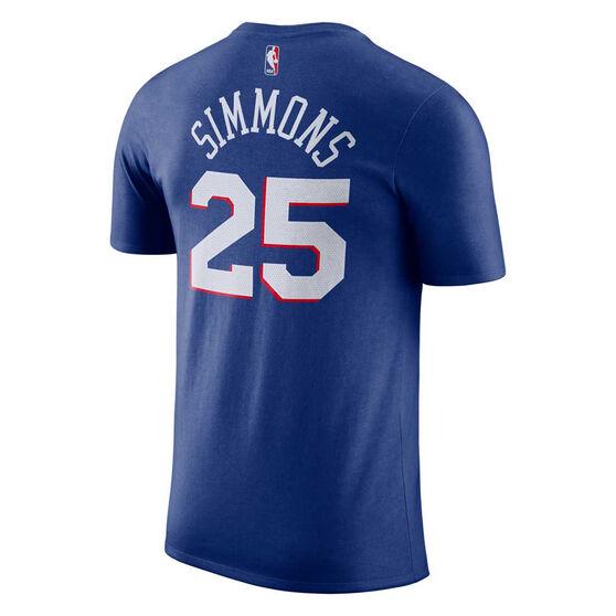 Philadelphia 76ers Mens Ben Simmons Dri-FIT Tee, Blue, rebel_hi-res
