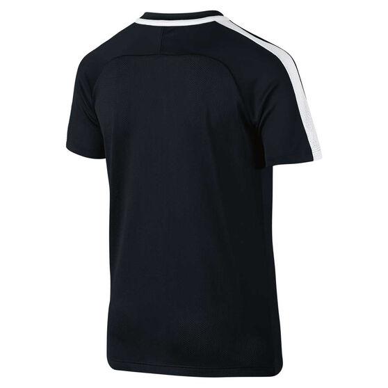 Nike Boys Dry Academy Football Tee, Black / White, rebel_hi-res