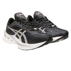 Asics Novablast Platinum Womens Running Shoes, Charcoal/Black, rebel_hi-res