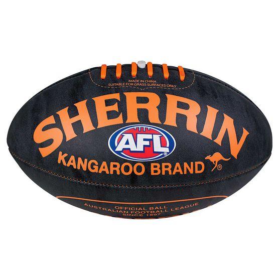 Sherrin Brights Soft Touch Australian Rules Ball Orange 5, , rebel_hi-res