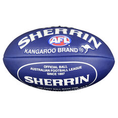 Sherrin Super Soft Touch Junior Australian Rules Ball Navy / White 8in, , rebel_hi-res