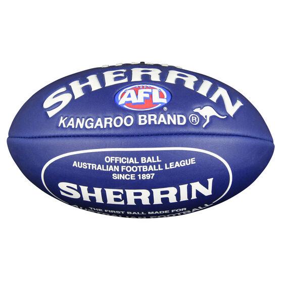 Sherrin Super Soft Touch Junior Australian Rules Ball Navy / White 8in, , rebel_hi-res
