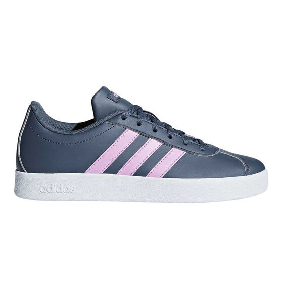 adidas VL Court 2.0 Kids Casual Shoes, Navy / Purple, rebel_hi-res