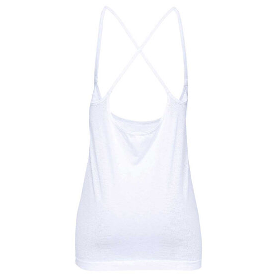 Under Armour Womens Seamless Spacedye Strappy Tank, White, rebel_hi-res
