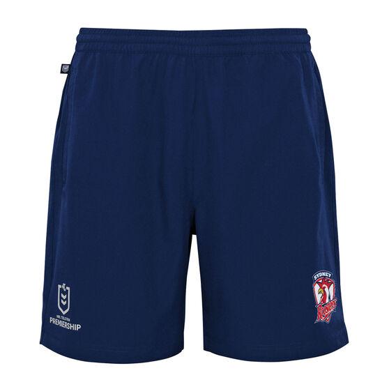 Sydney Roosters 2021 Kids Sports Shorts, Blue, rebel_hi-res