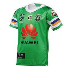 Canberra Raiders 2019 Kids Home Jersey Green 8, Green, rebel_hi-res