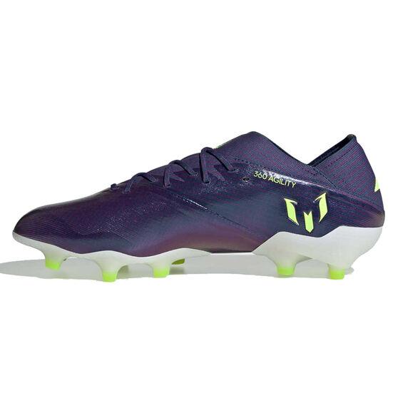 adidas Nemeziz Messi 19.1 Football Boots, Navy / Green, rebel_hi-res