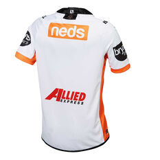 Wests Tigers 2019 Mens Away Jersey White / Orange S, White / Orange, rebel_hi-res