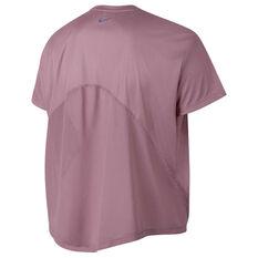 Nike Womens Dri FIT Miler Tee Pink XL, Pink, rebel_hi-res