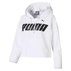 Puma Womens Modern Sport Hoodie White M, White, rebel_hi-res