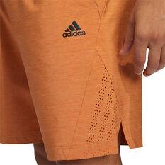 adidas Mens Axis Heathered Shorts, Red, rebel_hi-res