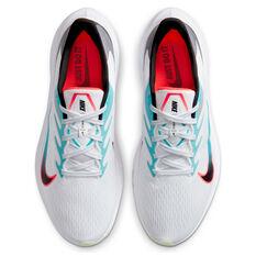 Nike Zoom Winflo 7 Mens Running Shoes, White/Black, rebel_hi-res