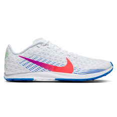 Nike Zoom Rival Waffle 2019 Womens Track Spikes White/Crimson US 5, White/Crimson, rebel_hi-res