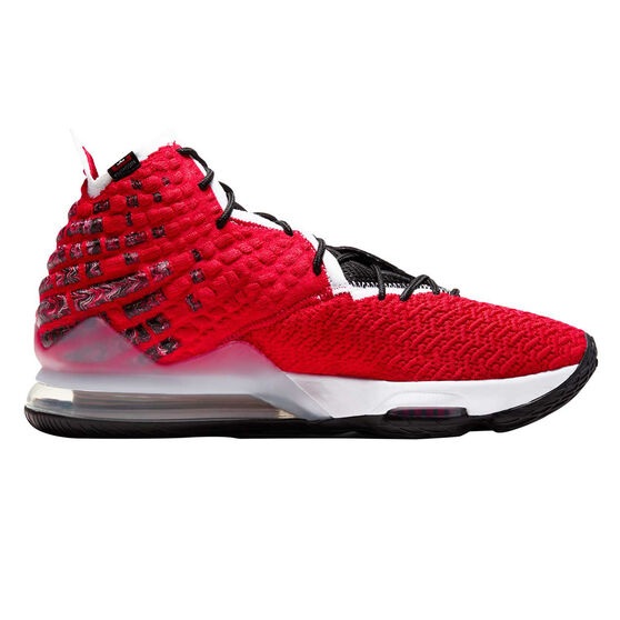 Nike LeBron XVII Mens Basketball Shoes, Red/White, rebel_hi-res