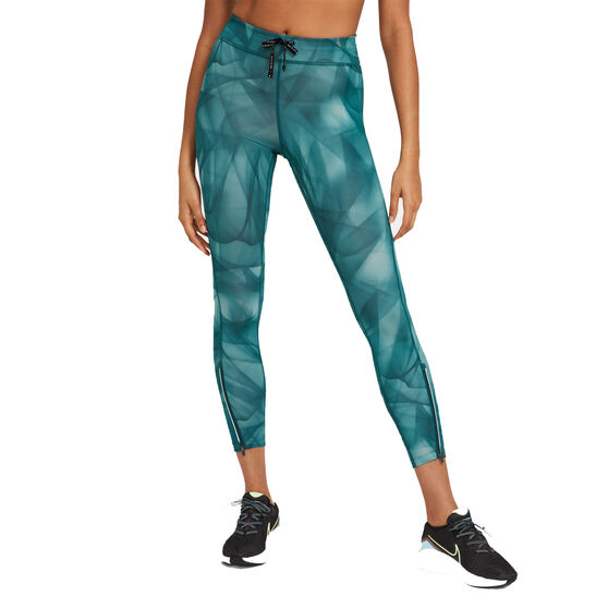 Nike Womens Epic Faster Run Division 7/8 Running Tights, Blue, rebel_hi-res