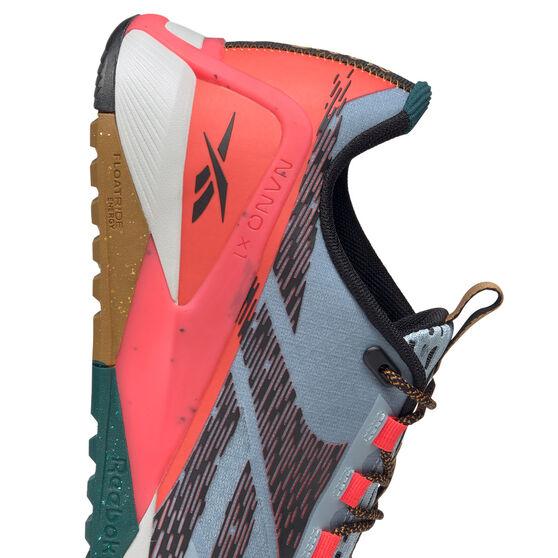 Reebok Nano X1 Adventure Mens Training Shoes, Grey/Black, rebel_hi-res