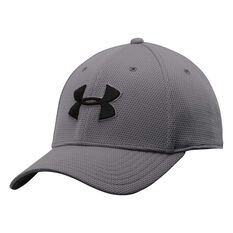 Under Armour Mens Blitzing II Cap Grey M / L Adult, Grey, rebel_hi-res
