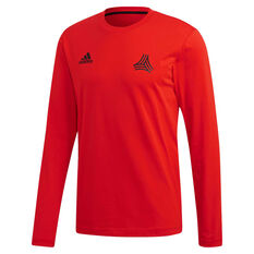 adidas Mens TAN Graphic Long Sleeve Tee Red S, Red, rebel_hi-res