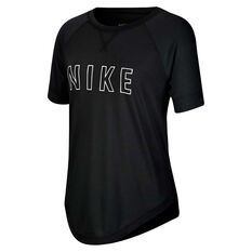 Nike Girls Sportswear Dri-FIT Trophy Tee, Black/White, rebel_hi-res