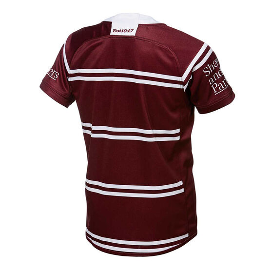 Manly Warringah Sea Eagles 2019 Kids Home Jersey, Maroon, rebel_hi-res