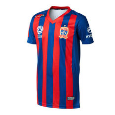 Newcastle Jets FC 2019/20 Kids Home Jersey Blue / Red 14, Blue / Red, rebel_hi-res