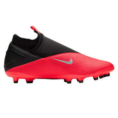 Nike Phantom Vision II Club Football Boots Black / Red US Mens 7 / Womens 8.5, Black / Red, rebel_hi-res