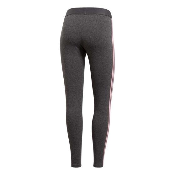 adidas Womens Essentials 3 Stripes Tights Grey / Pink L, Grey / Pink, rebel_hi-res