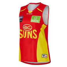 Gold Coast Suns AFLW 2020 Womens Home Guernsey Red XS, Red, rebel_hi-res