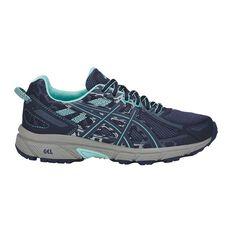 Asics GEL Venture 6 Womens Trail Running Shoes Blue / Grey US 6, Blue / Grey, rebel_hi-res