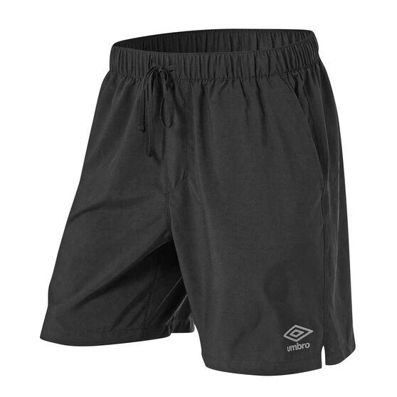 Umbro Mens 7in Training Shorts, Black, rebel_hi-res