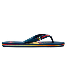 Quiksilver Molokai Slab Mens Thongs Blue/Red US 8, Blue/Red, rebel_hi-res