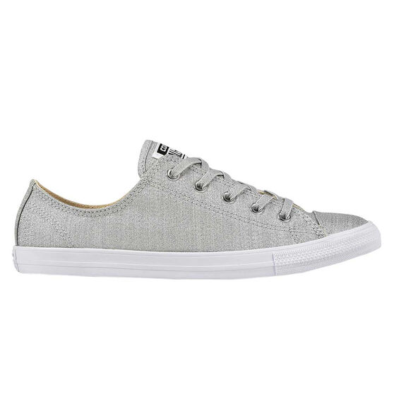 Converse Chuck Taylor All Star Dainty Womens Casual Shoes, Silver, rebel_hi-res