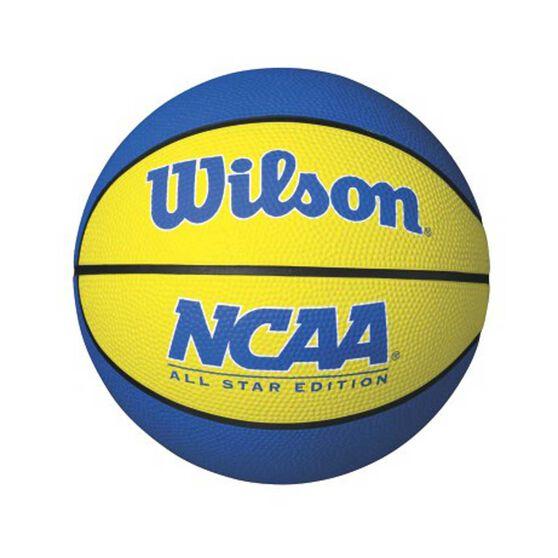 Wilson NCAA Mini Basketball Blue / Yellow 3, Blue / Yellow, rebel_hi-res