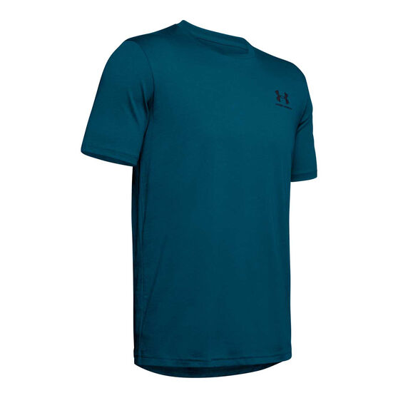 Under Armour Mens Sportstyle Left Chest Tee Teal XS, Teal, rebel_hi-res