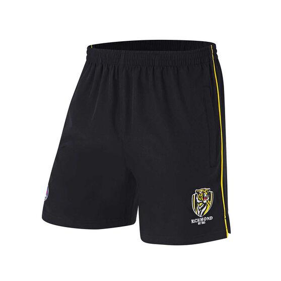 Richmond Tigers Mens Core Training Shorts, Black, rebel_hi-res