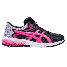 Asics GEL Quantum 90 2 Kids Casual Shoes Black/Pink US 4, Black/Pink, rebel_hi-res