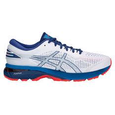 Asics GEL Kayano 25 Mens Running Shoes White / Blue US 7, White / Blue, rebel_hi-res