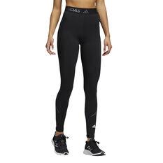 adidas Womens Techfit Reflective Tights Black XS, Black, rebel_hi-res