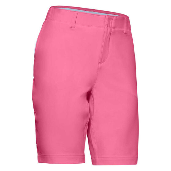 Under Armour Womens Links Golf Shorts, Pink, rebel_hi-res
