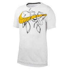 Nike Mens Dri-FIT HPR Training Tee White S, White, rebel_hi-res