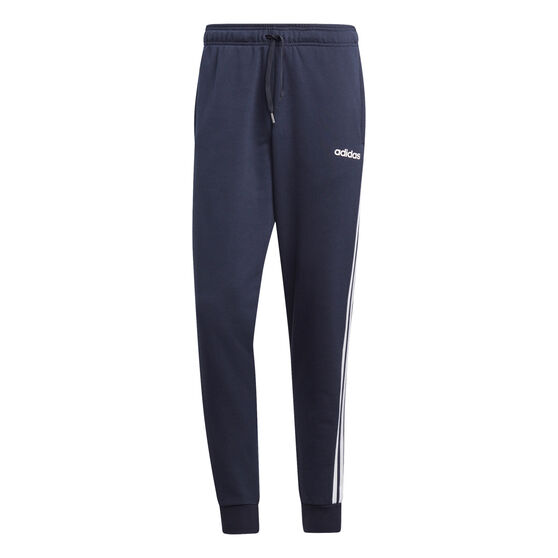 adidas Mens Essentials 3-Stripes Tapered Track Pants, Navy, rebel_hi-res