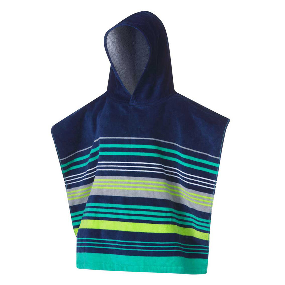Tahwalhi Kids Reef Stripe Beach Towel Poncho Rebel Sport