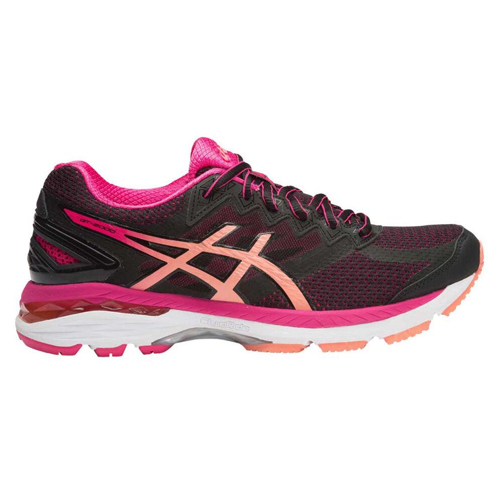 7ec76c694246 Asics GT 2000 4 D Womens Running Shoes Black   Orange US 7