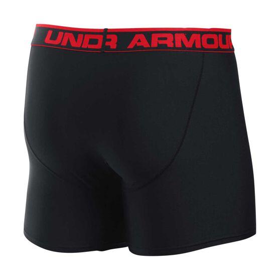 Under Armour Mens Original Series 6in BoxerJock Black / Red S, Black / Red, rebel_hi-res