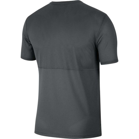 Nike Mens Breathe Running Tee, Grey, rebel_hi-res
